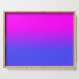 Neon Blue and Hot Pink Ombré Shade Color Fade Serving Tray
