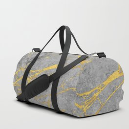 Grey Marble and Gold Duffle Bag