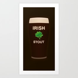 Irish Stout Art Print