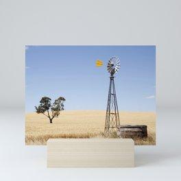 Australian Wheat-field Rural Landscape Mini Art Print