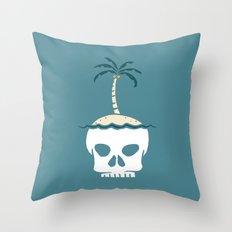Skull Island – Blue Throw Pillow