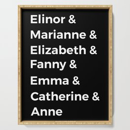 Jane Austen's Heroines I Serving Tray