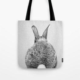 Rabbit Tail - Black & White Tote Bag