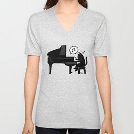 Pianist Unisex V-Neck