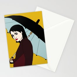 Umbrella Girl Colored Stationery Cards