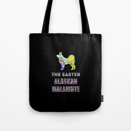Alaskan Malamute gifts | Easter gifts | Easter decorations | Easter Bunny | Spring decor Tote Bag