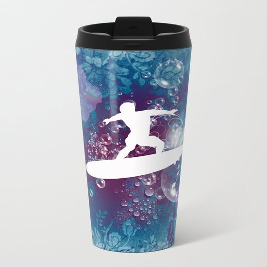 Sport, surfboarder Metal Travel Mug