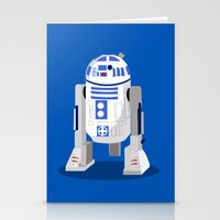 r2d2 Stationery Cards featuring R2D2 by Karen Mercado
