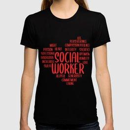 Social Worker Heart Social Care Gift T-shirt