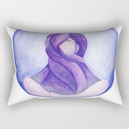 Tear Drop-Violet Rectangular Pillow