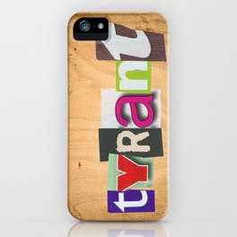 "TYRANT ""Ransom"" iPhone Case"