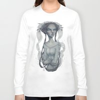 wedding Long Sleeve T-shirts featuring White Wedding by Zan Von Zed