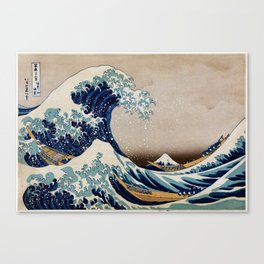 Under the Great Wave by Hokusai Canvas Print