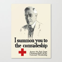 I Summon You To The Comradeship -- Red Cross Canvas Print