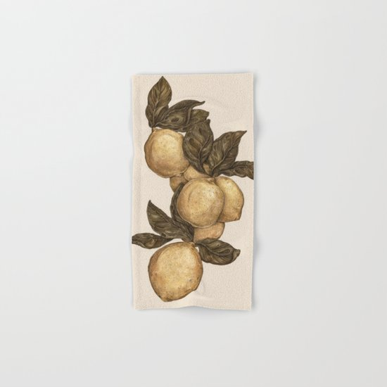 Lemons Hand & Bath Towel