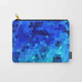 Ocean Blue Mosaic Pattern Carry-All Pouch