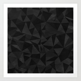 Dirty Dark Geo Art Print