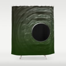 Black Moon Shower Curtain