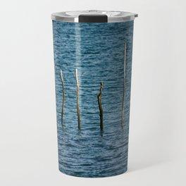 Wooden stakes. Travel Mug