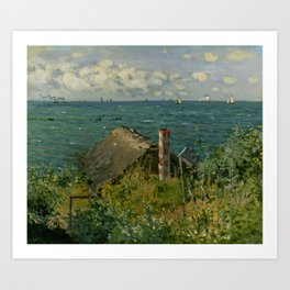 """Claude Monet """"La Cabane de Saint-Adresse"""" Art Print"""