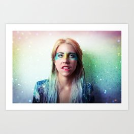 Glitter and grease. Art Print