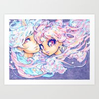 barachan Art Prints featuring little dream by barachan