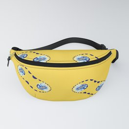 Fractal Cleavage Yellow Fanny Pack