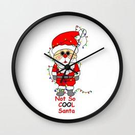 Not So Cool Santa Wall Clock