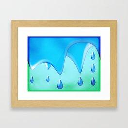 Splish Splash Framed Art Print
