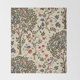 "William Morris ""Kelmscott Tree"" 1. Throw Blanket"