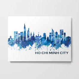 Ho Chi Minh City Vietnam Skyline Blue Metal Print