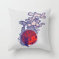 cabin Throw Pillows featuring Cabin by Devin Soisson