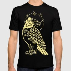 Messenger of Fire and Air LARGE Mens Fitted Tee Black