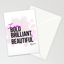 BBB (Bold, Brilliant, & Beautiful) Stationery Cards