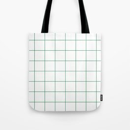Graph Paper (Olive & White Pattern) Tote Bag