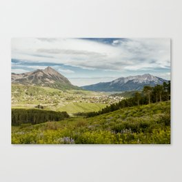 Mount Crested Butte and Town Canvas Print