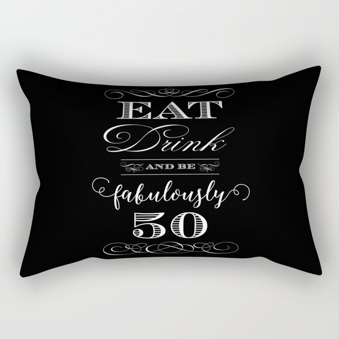 Fabulously Fifty Birthday Rectangular Pillow