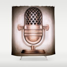 Kris Alan Mic Shower Curtain