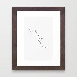 Neck kiss Framed Art Print