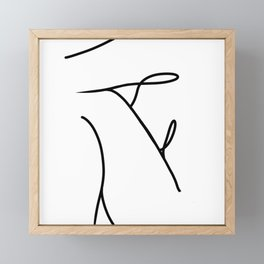 Nude 2 Framed Mini Art Print