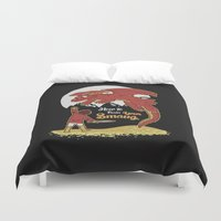 smaug Duvet Covers featuring How to Train your Smaug! by Loku
