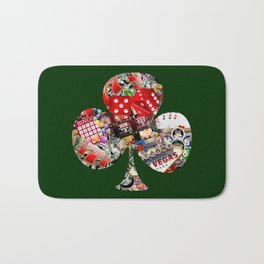 Club Playing Card Shape - Las Vegas Icons Bath Mat