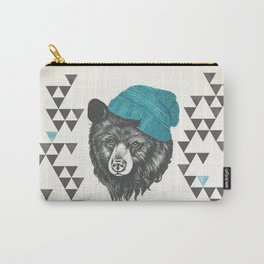 bear in blue Carry-All Pouch
