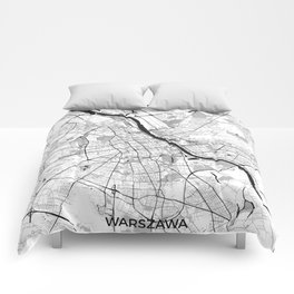 Warsaw Map Gray Comforters