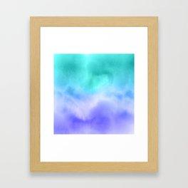 Blue Abstract Sky Framed Art Print