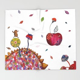 Welcome Autumn Throw Blanket