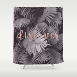 Rose gold discover - sepia fern Shower Curtain