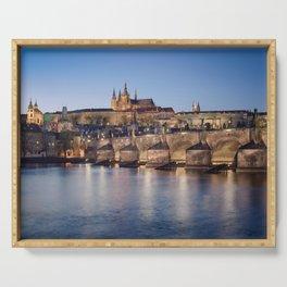 Prague Castle and Charles Bridge Serving Tray