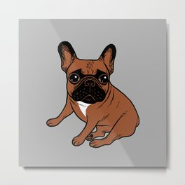 Red Fawn Frenchie Metal Print