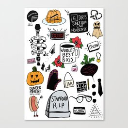 The Office doodles Canvas Print